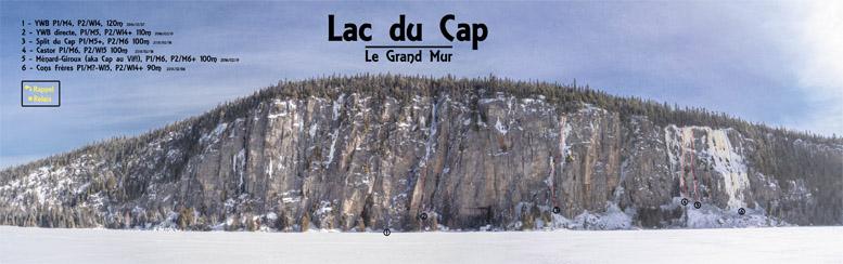 Topo du Grand Mur du lac du Cap
