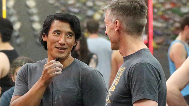 Jimmy Chin et Gabriel Filippi au Bloc Shop lors de la période des questions!