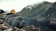 Bivouac au pied de l'Équerre | Photo: Hugo Drouin