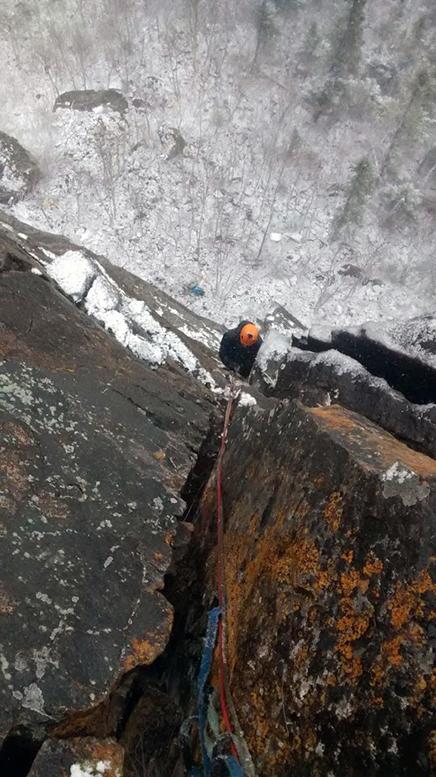 Charles Lacroix, avec un couvert de neige au sol | Photo: Hugo drouin