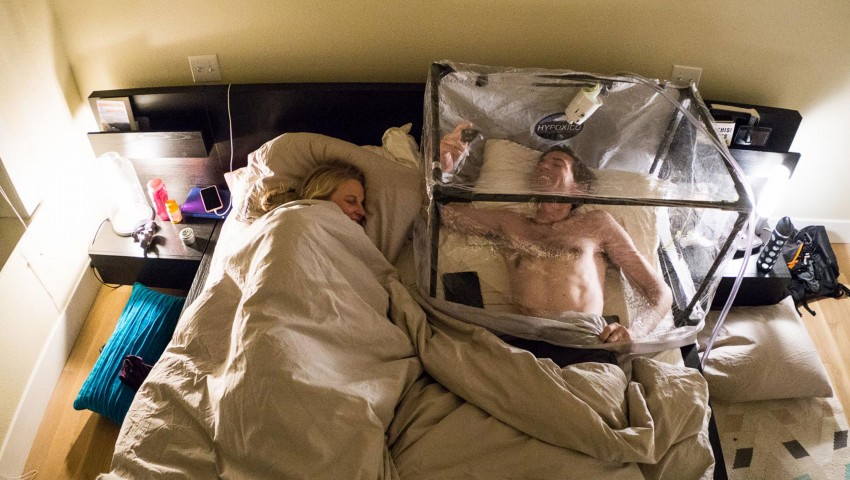 Tente hypoxique maison | Photo: Emily Harrington