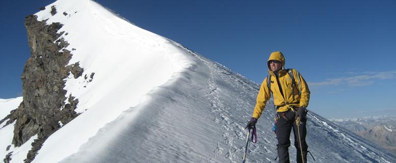 A pour Alpinisme. L'auteur au Kang Yatse (Inde).
