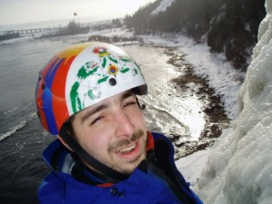 Benoit Marion aux Chutes Montmorency en 2009. Photo: Facebook.