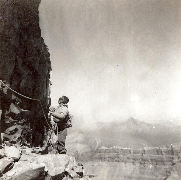 FX Garneau sur le Mont Victoria dans les Rocheuses | Photo: Collection FX Garneau