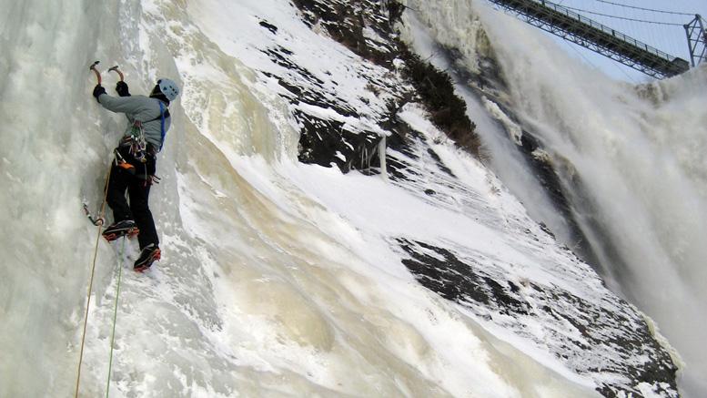 Le secteur des piliers à la chute Montmorency | Photo: Ian Bergeron